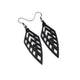 Arrowhead 02 [S] // Leather Earrings - Black - LIGHT RAZOR DESIGN STUDIO
