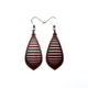Gem Point 12 [S] // Wood Earrings - Purpleheart