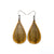 Drop 05 [S] // Wood Earrings - Canarywood