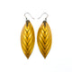 Terrabyte 14 [M] // Leather Earrings - Gold - LIGHT RAZOR DESIGN STUDIO