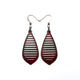 Gem Point 10 [S] // Wood Earrings - Purpleheart