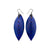 Terrabyte 14 [M] // Leather Earrings - Purple - LIGHT RAZOR DESIGN STUDIO