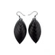 Terrabyte 14 [S] // Leather Earrings - Black - LIGHT RAZOR DESIGN STUDIO