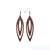 Totem 07 [L] // Wood Earrings - Purpleheart
