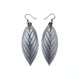 Terrabyte 14 [M] // Leather Earrings - Silver - LIGHT RAZOR DESIGN STUDIO