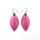 Terrabyte 14 [S] // Leather Earrings - Light Fuchsia - LIGHT RAZOR DESIGN STUDIO