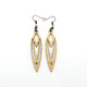 Totem 04 [S] // Wood Earrings - Ash - LIGHT RAZOR DESIGN STUDIO