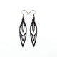 Totem 02 [S] // Leather Earrings - Black - LIGHT RAZOR DESIGN STUDIO