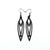Totem 04 [S] // Leather Earrings - Black - LIGHT RAZOR DESIGN STUDIO