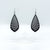 Gem Point 09 [L] // Leather Earrings - Black - LIGHT RAZOR DESIGN STUDIO