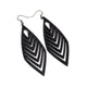 Terrabyte v.18 // Leather Earrings - Black - LIGHT RAZOR DESIGN STUDIO