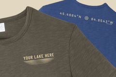 Custom Lake Outline - Premium Weathered Tee
