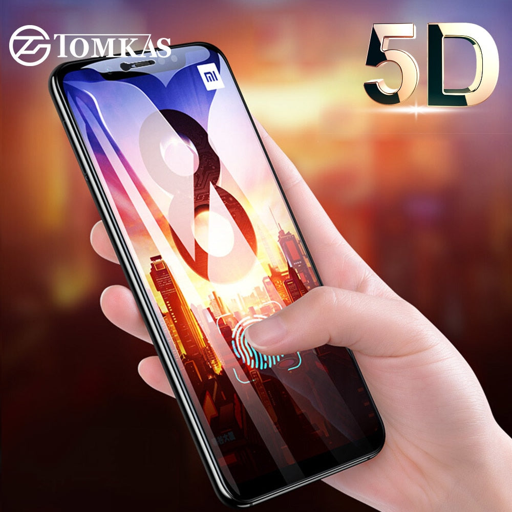 Tomkas 5d Glass For Xiaomi Redmi Note 5 Film Tempered Full Cover New 2018 Plus 4x 6 Pro