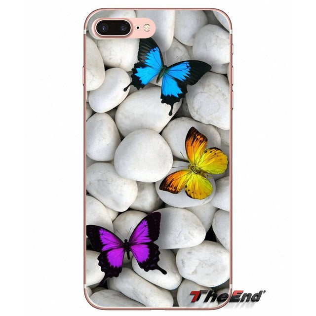 Colorful Butterfly Wallpaper Soft Case For Samsung Galaxy S5 S6 S7