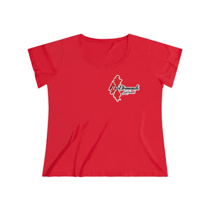 3 DIAMONDS Women's Curvy Tee