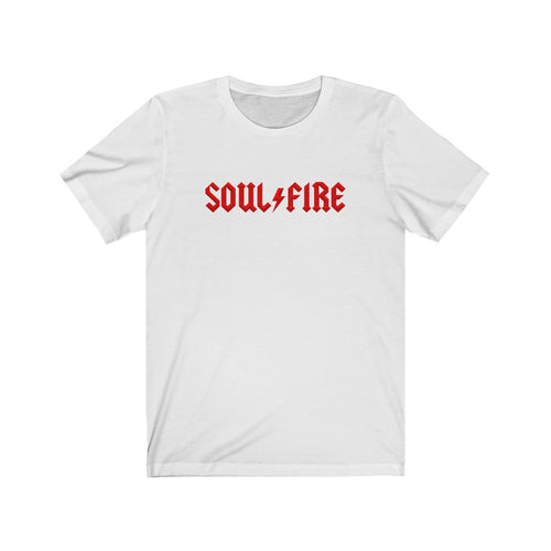 SOULFIRE PARODY - AC/DC RED Unisex Jersey Short Sleeve Tee
