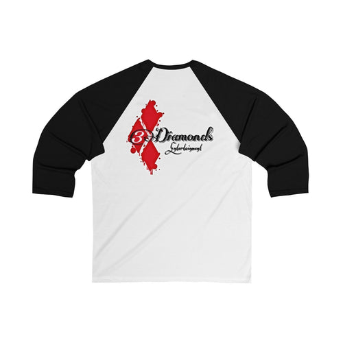 3 DIAMONDS Unisex 3/4 Sleeve Baseball Tee