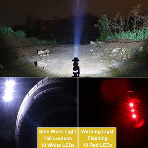 7 Brightness Mode 10in1 Multifunction Rechargeable Solar Power LED Flashlight Emergency Torch Window Breaker For working camping