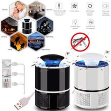 Load image into Gallery viewer, Electric Mosquito Killer Lamp USB Photocatalyst Mosquito Killer Fly Moth Bug Insect Trap Lamp Powered Bug Zapper Moskito Killer