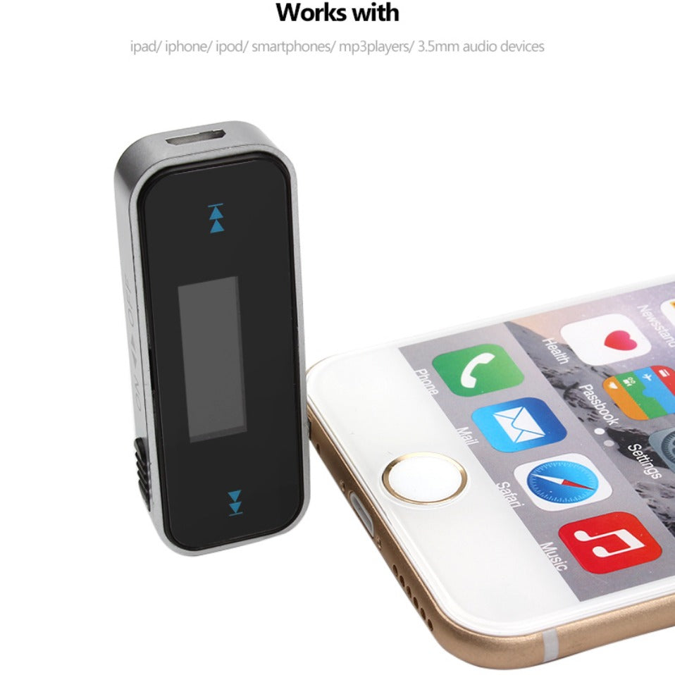 Car Fm Transmitter For Smart Phone Bluetooth Wireless Auto Player Mobile Phones Audio Devices