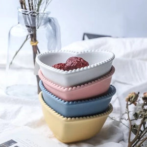 Pastel Heart Snack Bowls - Set of 2