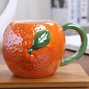 3D Glazed Fruit Mug - Orange