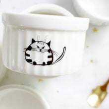 Load image into Gallery viewer, Printed Cat Baking Ramekins - Set of 6 Bowls