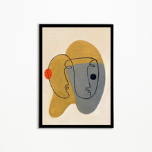 Load image into Gallery viewer, Abstract Face Wall Art