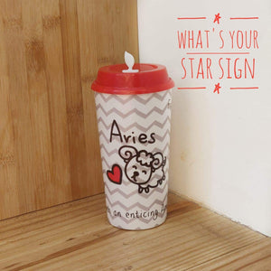 Sipper Cup with Coffee & Sipper lids by Chirpy Cups - Zodiac Signs