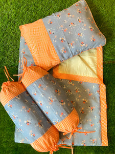 Blooms and Bunnies on Blue Infant Set