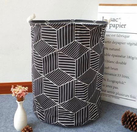 Monochrome Laundry Hamper - the-little-details-home-accents