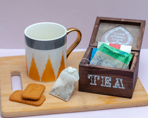 Brown Wooden Tea Box - the-little-details-home-accents