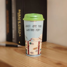 Load image into Gallery viewer, Sipper Cup with Coffee & Sipper Lids by Chirpy Cups