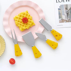 """Cheesy"" Cheese Knife Set"