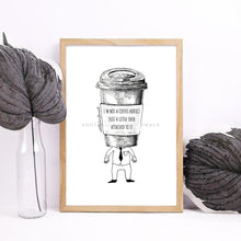 Load image into Gallery viewer, Coffee Illustration Art Print