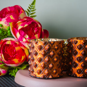 Copper Glass Candle Votive