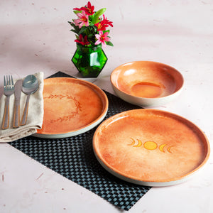 Earth Tone Hand Painted Crockery Set