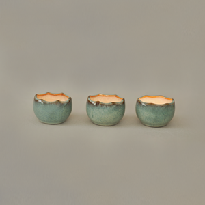 Eggshell Tea Light Candle Holders - Set of 4