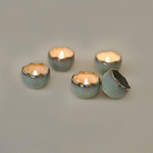 Load image into Gallery viewer, Eggshell Tea Light Candle Holders - Set of 4