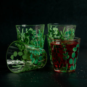 Eucalyptus Leaves Glasses - Set of 6