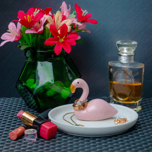 Flamingo Trinket Tray - the-little-details-home-accents