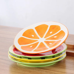 Fruit Plates - Set of 4 - the-little-details-home-accents