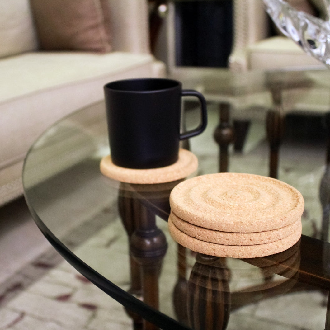Ripple Cork Coasters - Set of 4