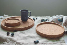 Load image into Gallery viewer, Set of 3 Cork Trays