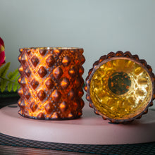 Load image into Gallery viewer, Copper Glass Candle Votive
