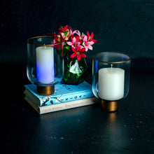 Load image into Gallery viewer, Glass Gold Detail Candle Votive