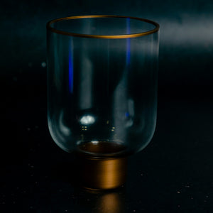 Glass Gold Detail Candle Votive
