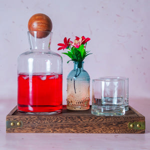Glass Carafe with Wooden Stopper