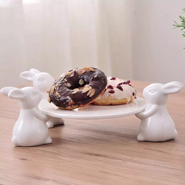 White Rabbit Trio Plate Stand - the-little-details-home-accents