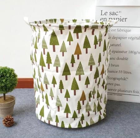 Tree Print Laundry Hamper - the-little-details-home-accents